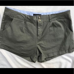Ambiance Apparel Plus Size Olive Green Shorts